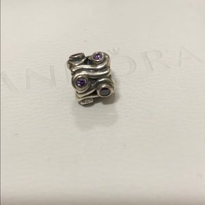 Pandora purple charm
